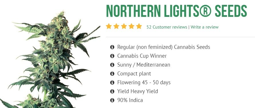 Northern Lights 90% Indica de Sensi Seeds