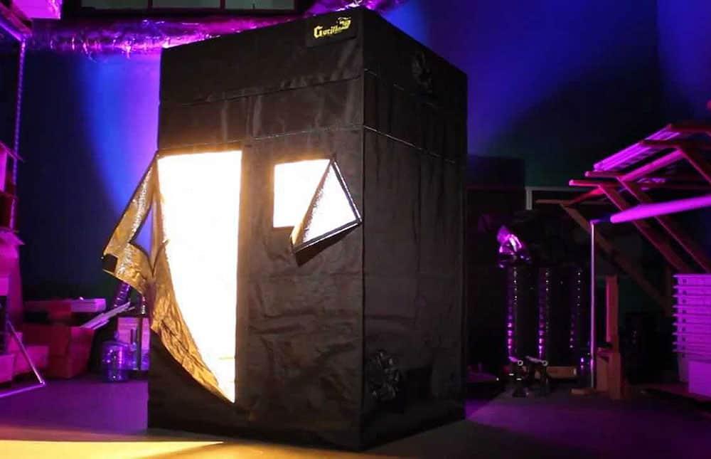gorilla grow tent fully setup