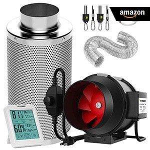 VIVOSUN-6-Inch-390-CFM-Inline-Fan-Carbon-Filter-Kit