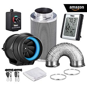 iPower 6 Inch 350 CFM and Carbon Filter